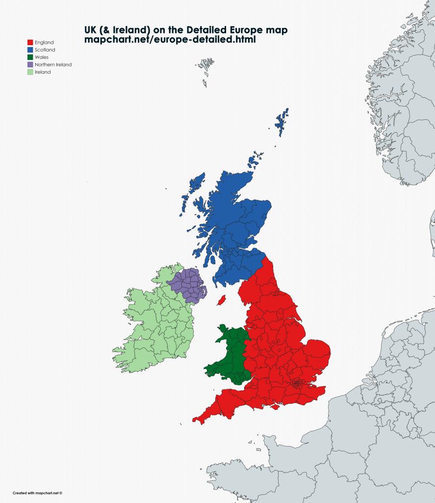 Map Of England Wales Scotland.The New United Kingdom Ireland Maps Blog Mapchart