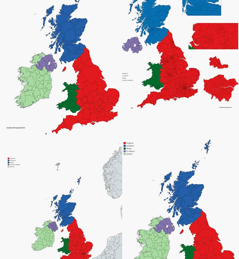 Map Of Uk Ireland.The New United Kingdom Ireland Maps Blog Mapchart