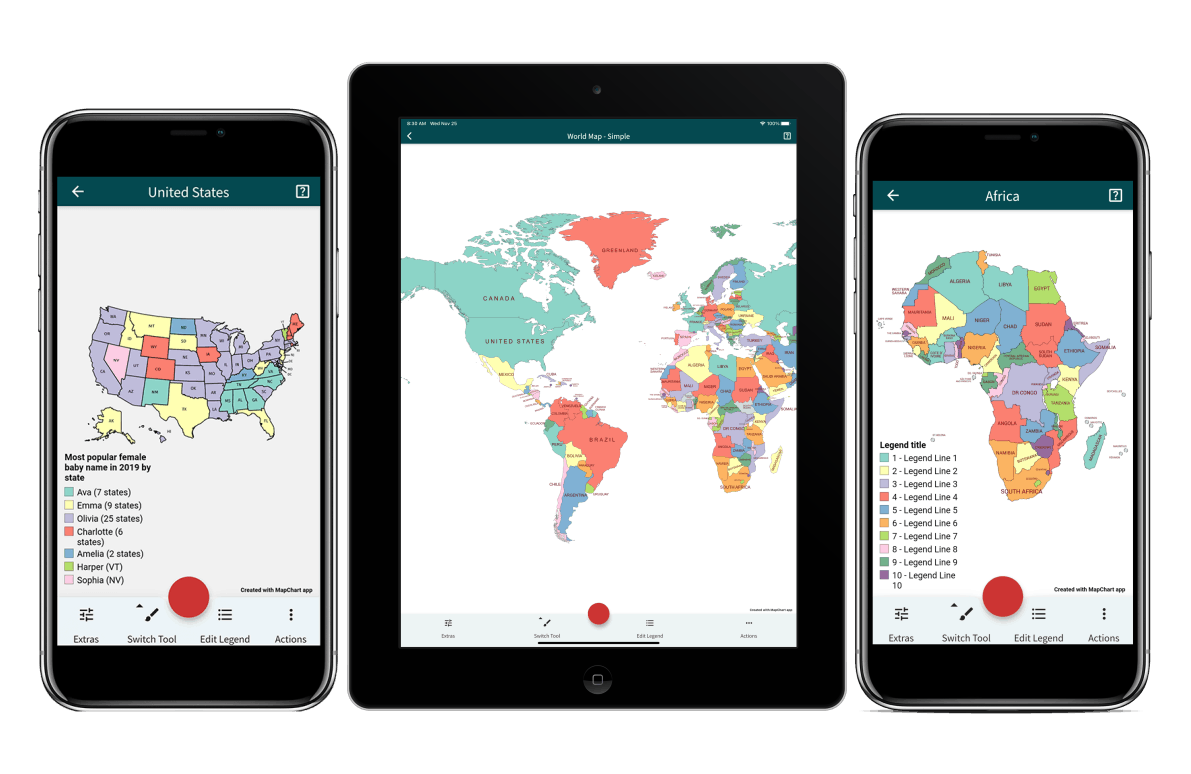 mapchart app on ipad iphone and android